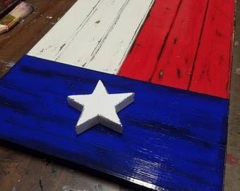 "26""X16"" Texas Flag wood, rustic, wallart lonestar state"