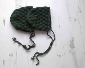 Knitted Baby bonnet/Newborn baby bonnet/Hand knitted bonnet/Newborn bonnet/Fotography prop/Bonnet/Knit newborn bonnet/Photo Prop