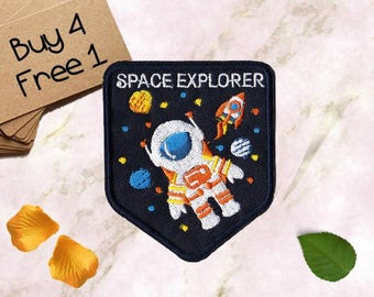 Space Fabric Patches Space Quilt Patches Embroidered Patch Iron Patches