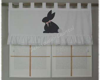 Easter Bunny curtain valance