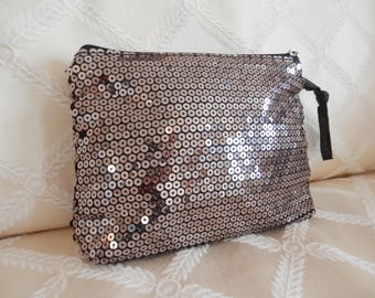 Sequin Evening Purse, Vintage Evening Purse, Sparkly Evening Purse, Sequin Clutch, Burnished Gold Evening Purse, Burnished Gold Sequin Purse