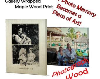 Custom Photo Wood Art, Personalized Photo Printed on wood, Home Decor, Birthday Gift, Unique Wedding Gift, Anniversary Gift, Home Living