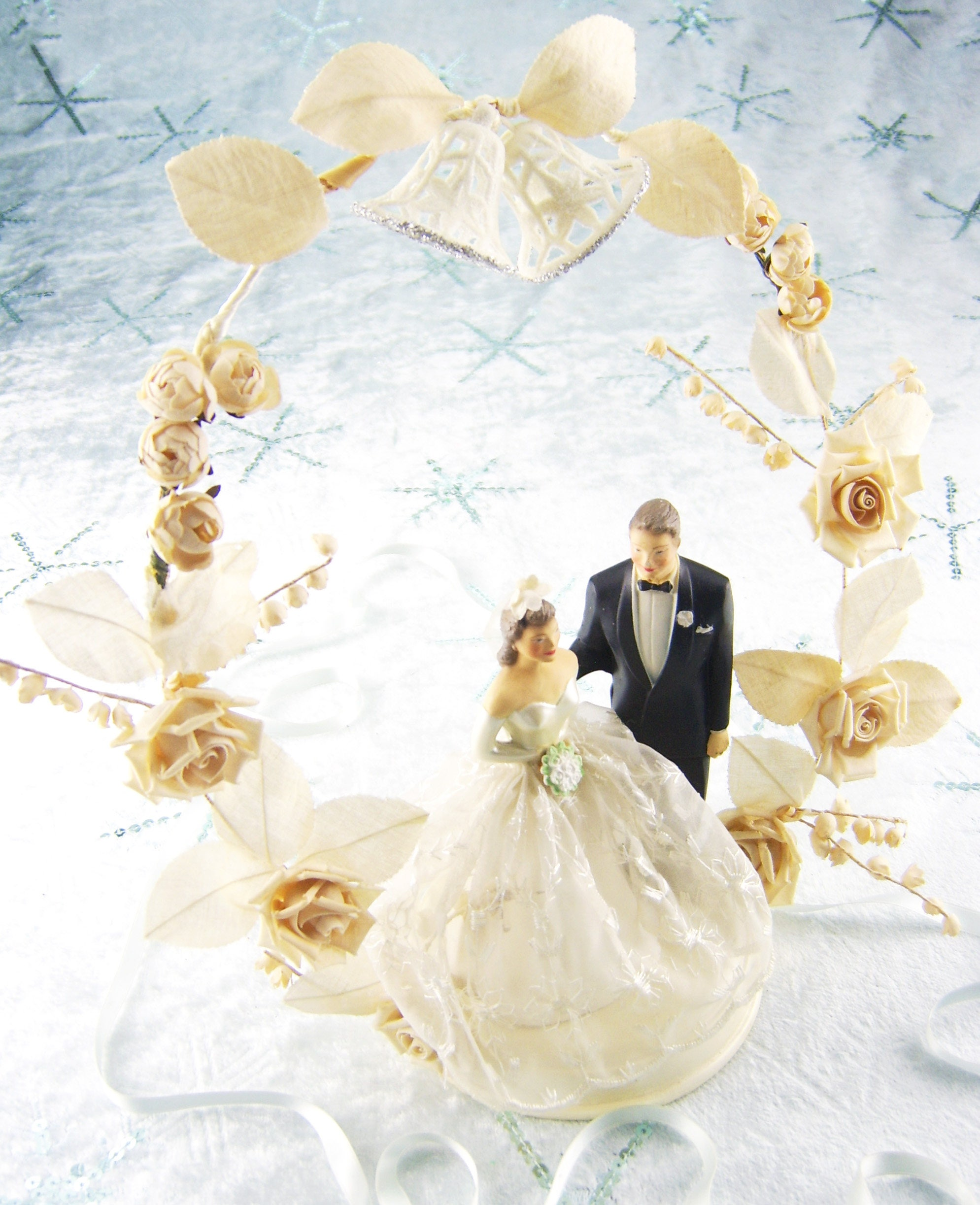 Wedding Cake Topper Bald Man