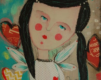 Painting Little Girl 9