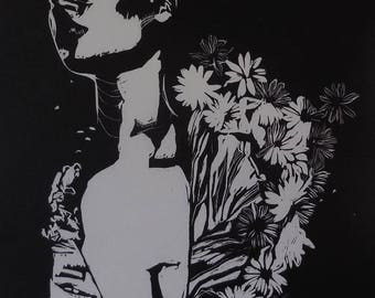 Studio Sale: flower beauty print