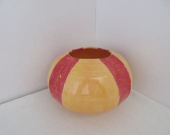 FREE SHIPPING Hand Thrown Carved Bowl or Vase