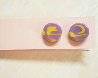 Handmade polymer clay stud earrings