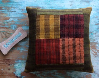 Many colored, decorative pillow case, kilim pillow, cozy pillow, turkish pillow