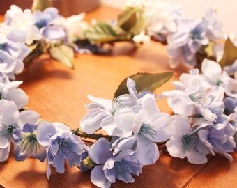 Crown blue flowers Flower blue Flower girl crown