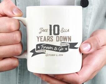 Forever To Go, Anniversary Mug, Personalized Wedding Mug, Personalized Gift, Coffee Mug, Ceramic Mug, Anniversary Gift, Couple Gift, Tea Mug