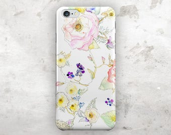 Floral iphone 7 case, iphone 7 plus case, Watercolor iphone 6s case, iphone 6s plus case, iphone 6 case, iphone 6 plus case, iphone 5s case