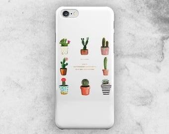 Cactus iphone 8 case, watercolor iphone 8 plus case, iphone 7 case, iphone 7 plus case, iphone 6s case, iphone 6s plus case, iphone 6 case