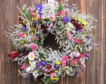Door wreath wreaths wreath wall flower-nature