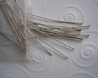 """Head Pins 2"""" Silver Plated Earring Making Jewelry Crafts Beading Bead Threading Easy Earrings Simple Crafts Home Jewelry Making Handicrafts"""