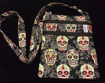 Cross Body Bag - Pink Sugar Skull