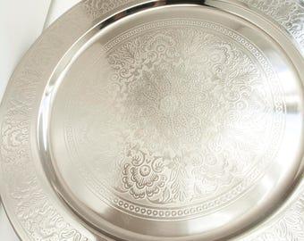 Decorative Tray ( Silver )
