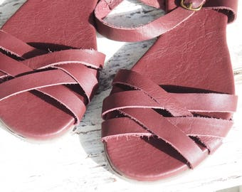 Sandals made by hand and custom.
