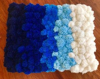 Pom Pom Rug, Soft Area Rug, Bathroom Rug, Doem Rug, Bedroom Rug, Nursery Rug, Handmade Floor Rug