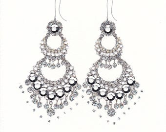 Dazzling Silver Earrings