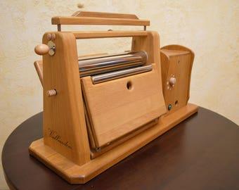 Dough Rolling Machine, Wooden Machine, Natural, Unique Product