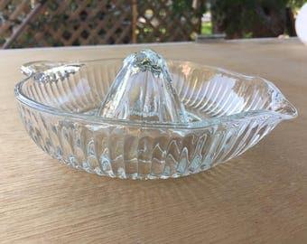 Beautiful Clear Glass Citrus Juicer