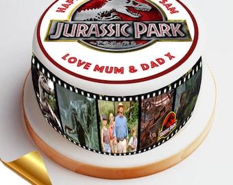 7.5' Diameter Icing Cake Topper - Jurassic Park