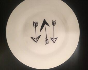 Arrow porcelin plate