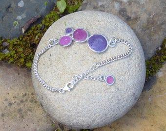midnight purples bubble bracelet