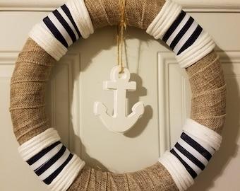 Nautical Handcrafted Door Wreath Home Decor