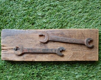 Rusty Tools and Barn Wood-Wall decoration