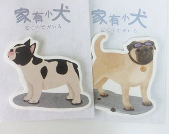 Dog Sticky Notes - Memo Pad - 2 Designs - Pug - French Bulldog - Note Pad