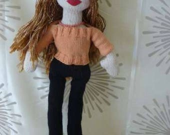 "Hand Knitted ""Babe"" doll, 22 inches, ""Annette"""
