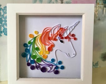 Rainbow unicorn picture