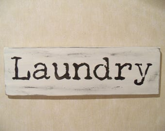 Distressed Laundry Sign Laundry Words  Etsy