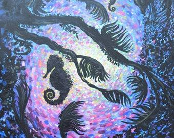 Seahorses Fine Art PRINT of Original Painting
