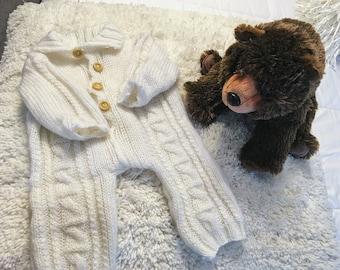 Vintage Knitted Sweater Onesie Romper Bodysuit