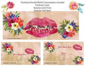 Watercolor Floral Lip Business Kit!