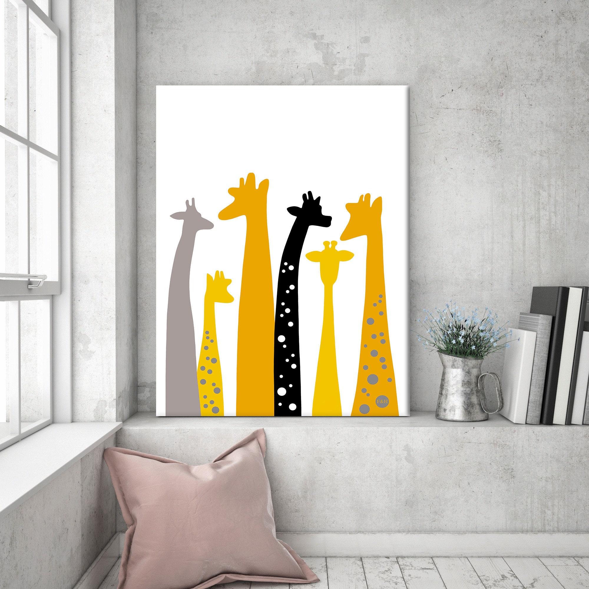 Nursery wall art giraffe nursery giraffe gift giraffe