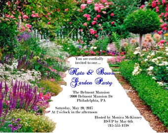 Digital Custom Garden Theme Party Invitations