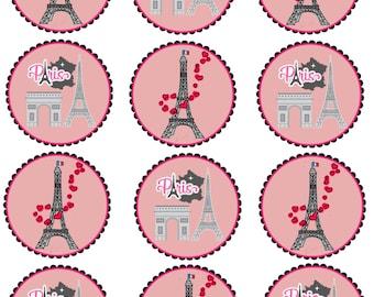 Paris Cupcake Topper