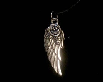 Heart Wing Charm Necklace