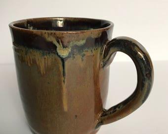 Hand thrown mug for coffee, tea, hot chocolate