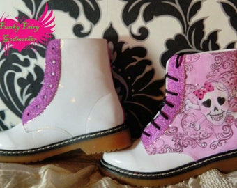 DM style boots, retro boots, ankle boots, lace up boots, funky boots, customised boots, customised shoes, alternative design