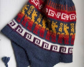 Peruvian Chullo, Soft Beanie, Made in Cuzco, Traditional