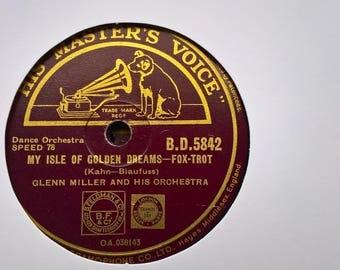 78rpm GLENN MILLER my isle of golden dreams / ciri-biri-bin B.D. 5842