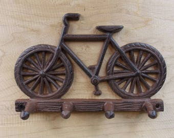 Cast Iron Bicycle Key Rack Key Holder Rustic Wall Decor