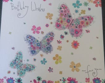 Butterfly Birthday wishes greetings card