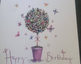 Birthday tree card