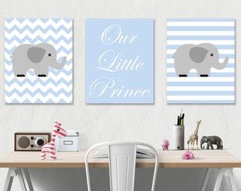 Elephant Nursery Art Print Digital Nursery Print Boy Printable Art Baby Room Decor Printable Nursery Wall Art INSTANT DOWNLOAD