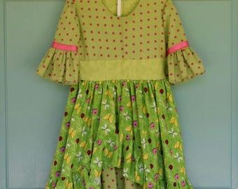 Shabby Chic Ruffled Girls Dress